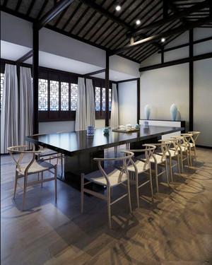 60平米中式风格精致会议室装修效果图案例