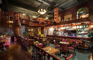 96平米美式风格创意酒吧装修效果图