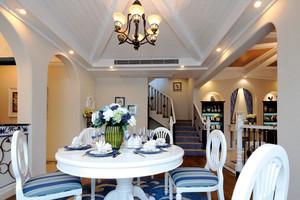 地中海风格别墅室内精致餐厅装修效果图赏析
