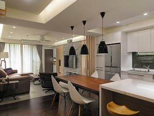 104平米后现代风格三室两厅室内装修效果图赏析