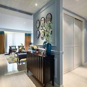 混搭风格时尚清新玄关设计装修效果图欣赏
