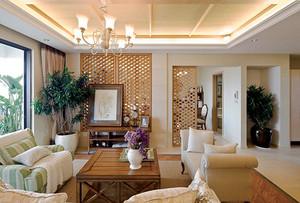 中式田园风格自然禅意两室两厅室内装修效果图鉴赏