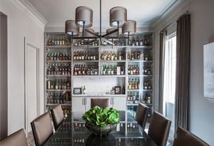 现代风格时尚创意餐厅酒柜设计装修效果图