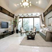 新中式风格大户型精致客厅吊顶装修效果图欣赏