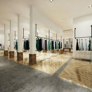 140平米后现代风格大型服装店装修效果图