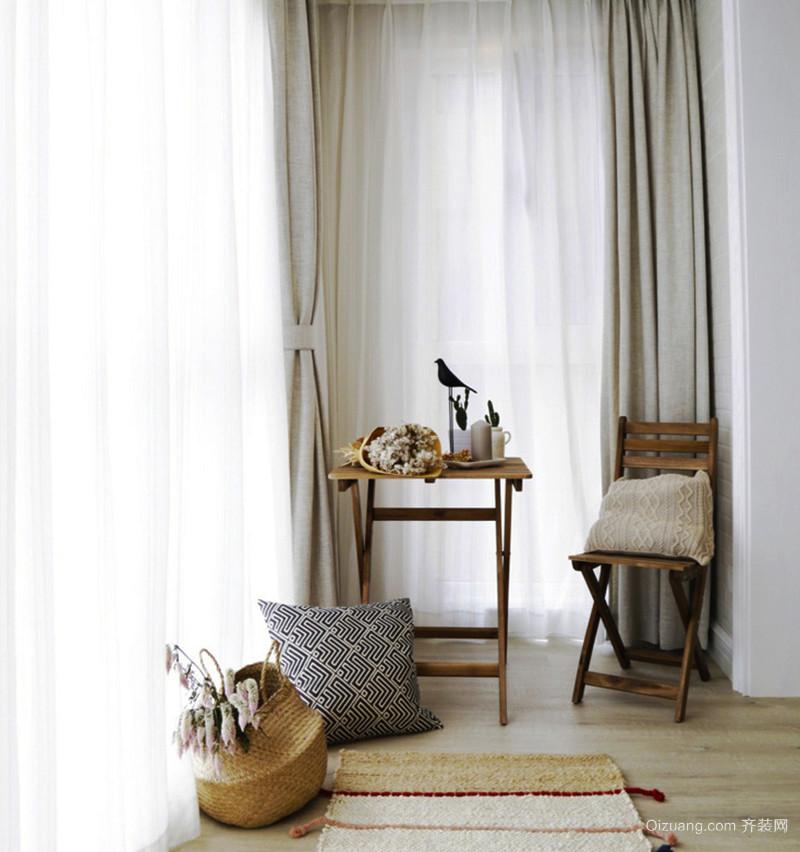 北欧风格森林系三室两厅两卫装修效果图欣赏