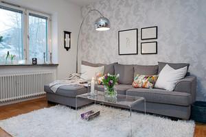49平米现代简约风格单身公寓装修效果图鉴赏