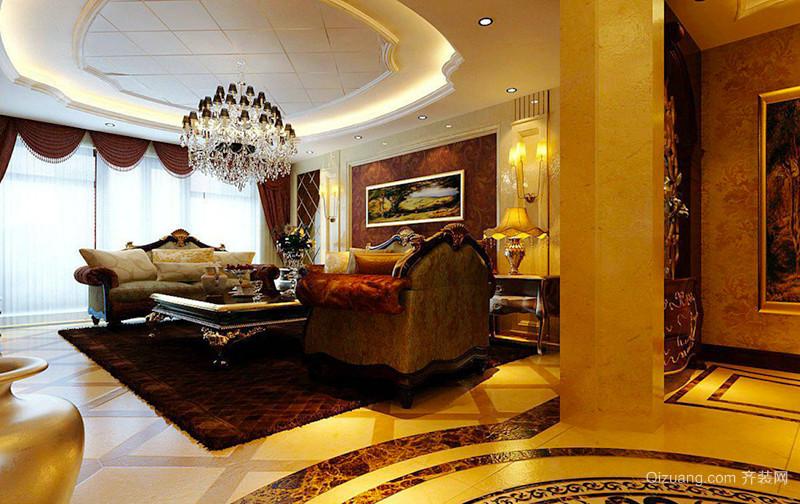 古典欧式风格精致大户型室内装修效果图案例
