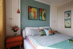 现代简约风格时尚卧室背景墙装修效果图欣赏