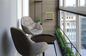 现代简约风格休闲封闭式阳台装修效果图
