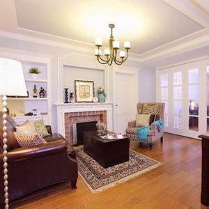 133平米美式风格精装三室两厅室内装修效果图