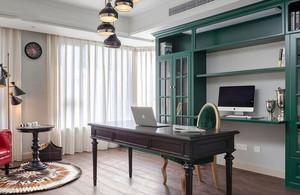 美式风格大户型典雅书房设计装修效果图鉴赏