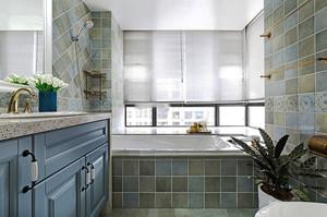 美式风格简约大户型卫生间装修效果图赏析