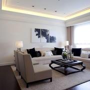 现代简约风格三居室客厅装修效果图赏析