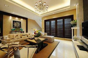 127平米新中式风格精致三室两厅室内装修效果图案例