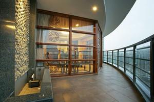 中式风格大户型精致露天阳台装修效果图