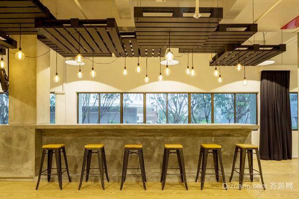 现代风格创意办公室吧台设计装修效果图