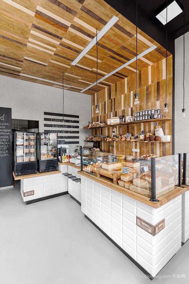65平米北欧风格面包店装修效果图欣赏