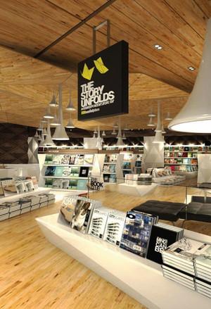 现代简约风格时尚书店设计装修效果图