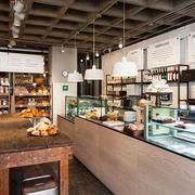 80平米后现代风格精致面包店展柜装修效果图
