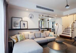 北欧风格温馨复式楼客厅装修实景图赏析