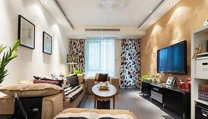 78平米简约风格温馨两室一厅室内装修效果图案例
