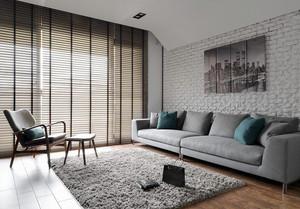 美式风格精装两室两厅室内装修效果图案例