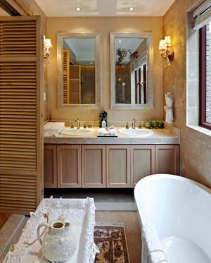 欧式田园风格清新舒适三室两厅室内装修效果图