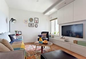 80平米清新北欧风格室内装修效果图案例