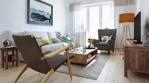 宜家风格文艺小清新两室两厅室内装修实景图赏析