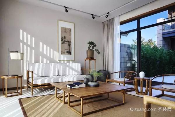150平米中式风格淡雅大户型室内装修效果图案例