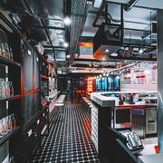 67平米后现代风格精致港式茶餐厅装修效果图