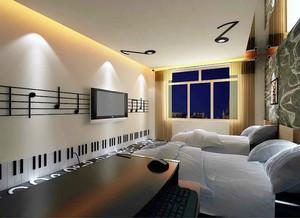 现代风格宾馆标准间装修效果图赏析