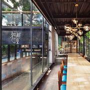 160平米后现代风格文艺咖啡厅设计装修效果图