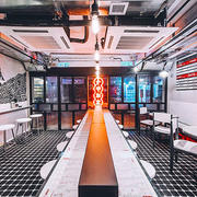 66平米简约风格港式茶餐厅装修效果图