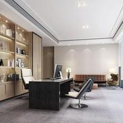 现代简约风格老总办公室装修效果图