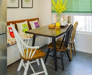 宜家风格简约餐厅卡座设计装修效果图欣赏