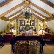 东南亚风格别墅阁楼卧室装修效果图赏析