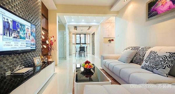 88平米简欧风格精致两居室婚房装修效果图案例