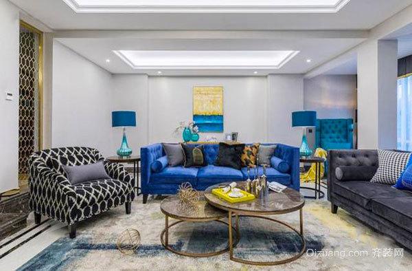 时尚混搭风格精致客厅装修效果图欣赏