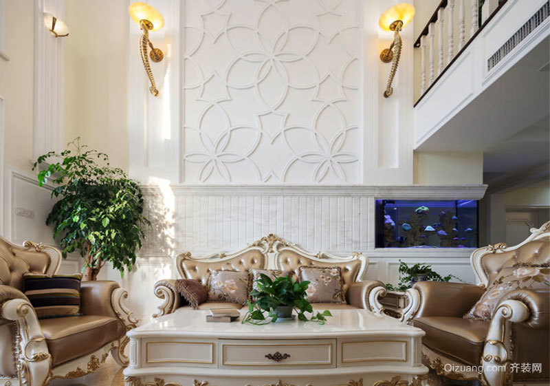 欧式风格别墅室内精美客厅装修效果图欣赏