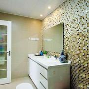 现代风格精致卫生间马赛克瓷砖装修效果图