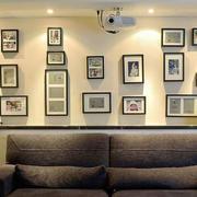 现代风格时尚创意客厅照片墙装修效果图欣赏