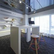 现代风格精致两居室书房吊顶设计装修效果图