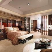 中式风格别墅室内精致主卧室装修效果图