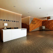 现代风格简约办公室前台设计装修效果图