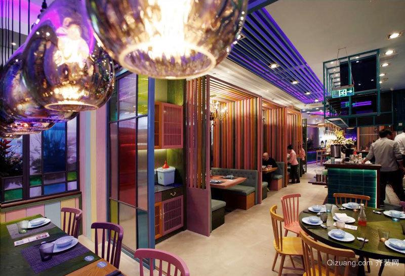 100平米时尚混搭风格餐厅装修效果图