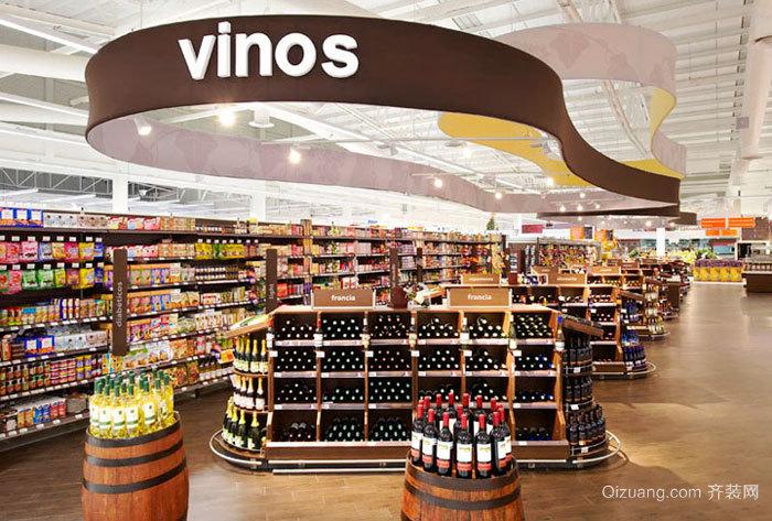 180平米现代风格超市装修效果图赏析