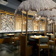 160平米中式风格火锅店设计装修效果图