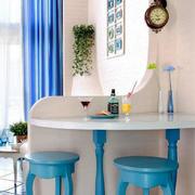 地中海风格清新室内吧台设计装修效果图